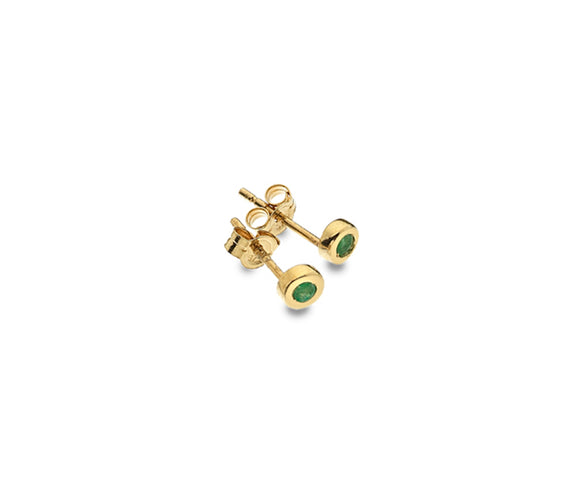 9CT GOLD & EMERALD EARRINGS
