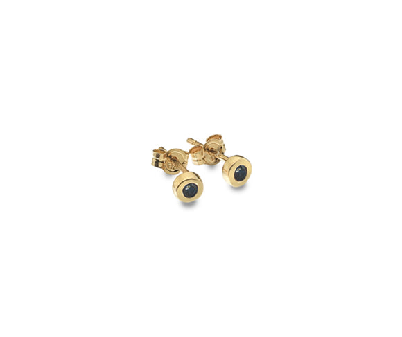 9CT GOLD & SAPPHIRE EARRINGS