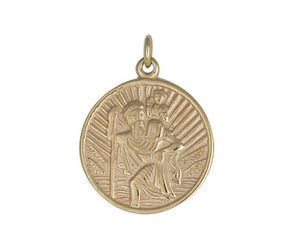 9CT GOLD ST CHRISTOPHER & CHAIN