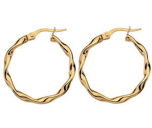 9CT GOLD CREOLE EARRINGS