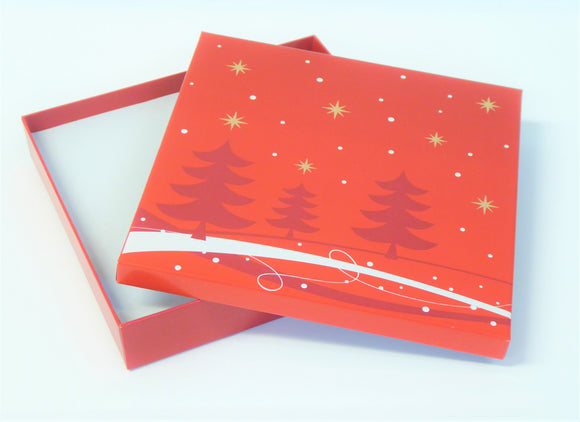 RED AND WHITE NECKLET XMAS PRESENTATION BOX