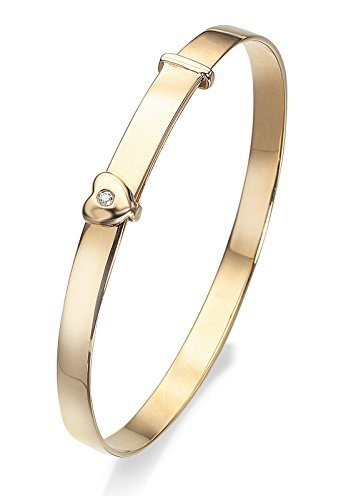 D FOR DIAMOND 9CT GOLD BABY BANGLE