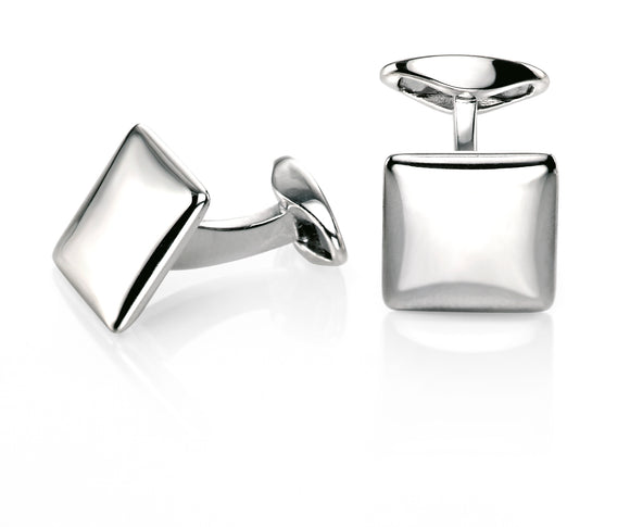 FRED BENNETT PLAIN SQUARE CUFFLINKS