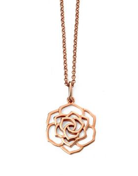 SILVER & ROSE GOLD PLATED FLOWER PENDANT
