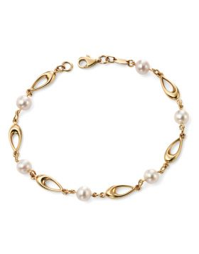9CT GOLD BRACELET WITH PEARLS