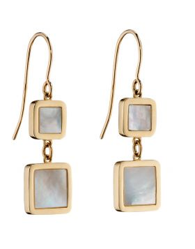 9CT GOLD & MOTHER OF PEARL EARRINGS
