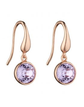 SILVER, ROSE GOLD PLATE & CRYSTAL EARRINGS