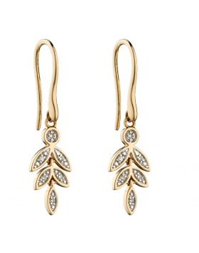 9CT GOLD & DIAMOND EARRINGS