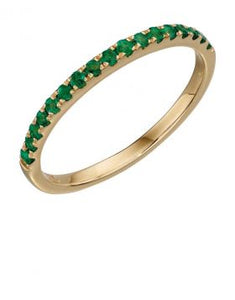 9CT GOLD & EMERALD RING
