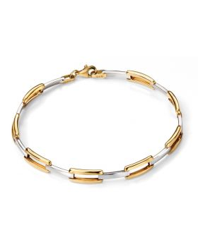 9CT GOLD TWO TONE BRACELET