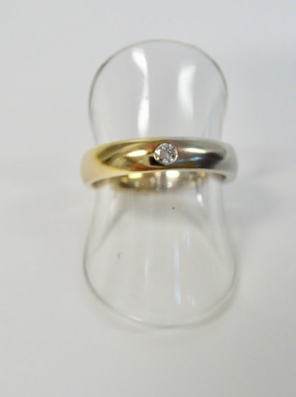 BROWN & NEWIRTH 9CT GOLD DIAMOND WEDDING RING