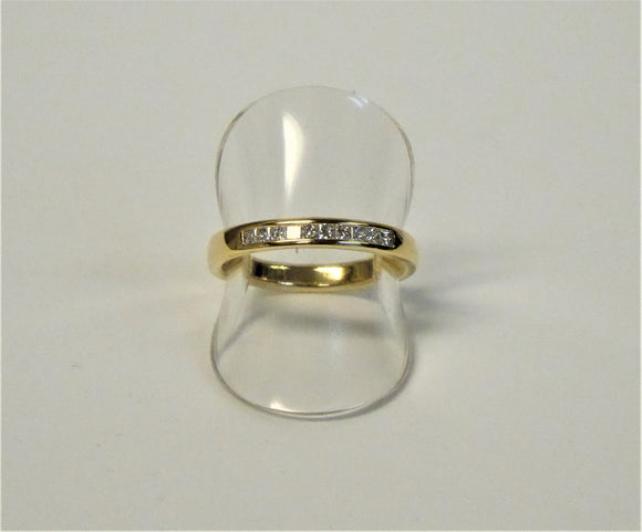 BROWN & NEWIRTH 18CT GOLD DIAMOND 1/2 ETERNITY RING