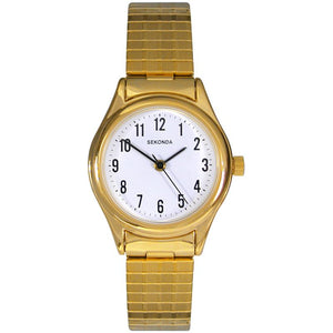 SEKONDA LADIES' GOLD PLATED CLASSIC WATCH