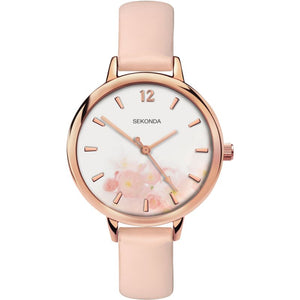 SEKONDA LADIES' FLORAL WATCH