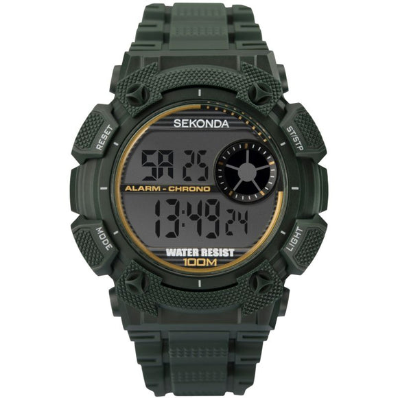 SEKONDA MEN'S DIGITAL SPORTS WATCH
