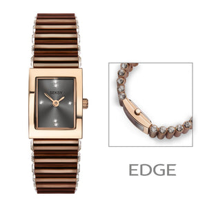 SEKSY LADIES' EDGE DRESS WATCH