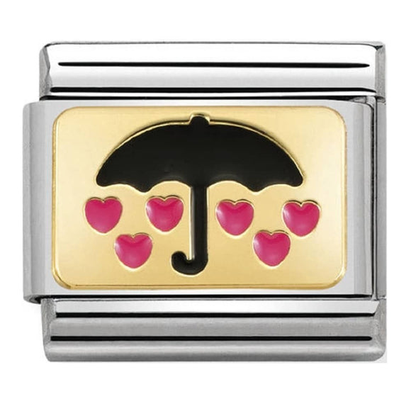NOMINATION COMPOSABLE UMBRELLA WITH HEARTS LINK