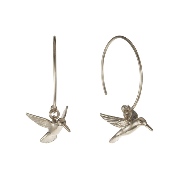 ALEX MONROE HUMMINGBIRD HOOK EARRINGS