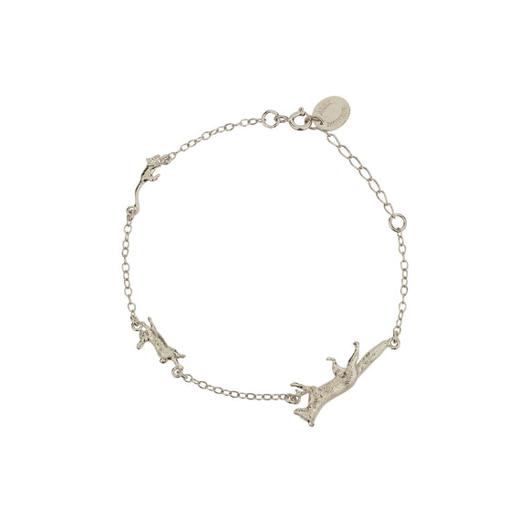 ALEX MONROE FOX, RABBIT & MOUSE CHASE BRACELET