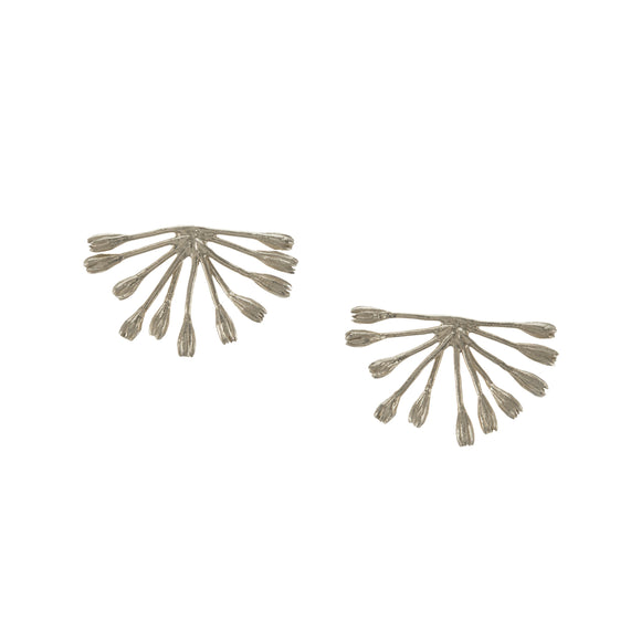ALEX MONROE FANNED SEED POD STUD EARRINGS