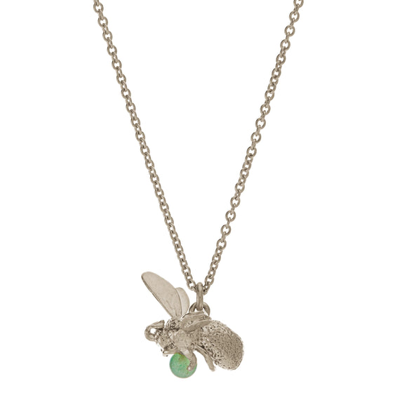 ALEX MONROE FLYING BEE WITH AVENTURINE NECKLACE