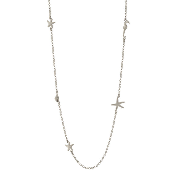 ALEX MONROE STARFISH CONSTELLATION LONG NECKLACE