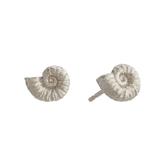 ALEX MONROE AMMONITE STUD EARRINGS