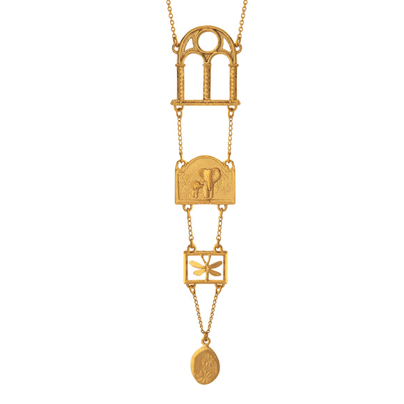 ALEX MONROE GRADUATING DISCOVERY NECKLACE