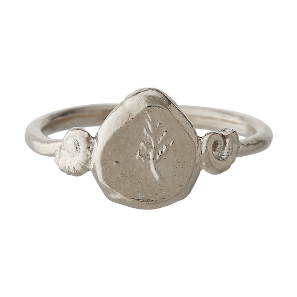 ALEX MONROE FERN FOSSIL TREASURE RING