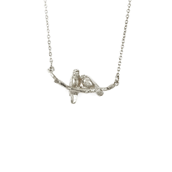 ALEX MONROE COSY LOVEBIRD NECKLACE
