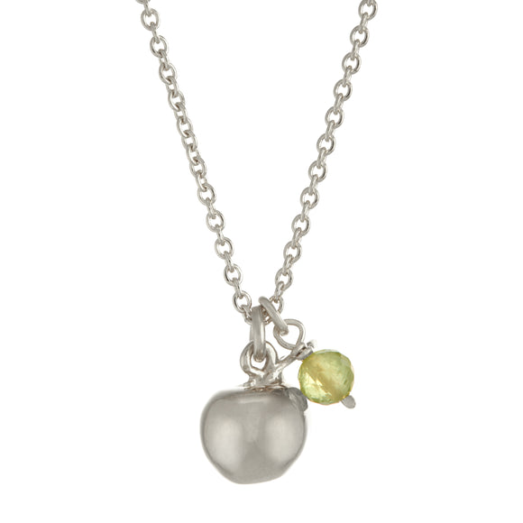 ALEX MONROE APPLE & PERIDOT NECKLACE