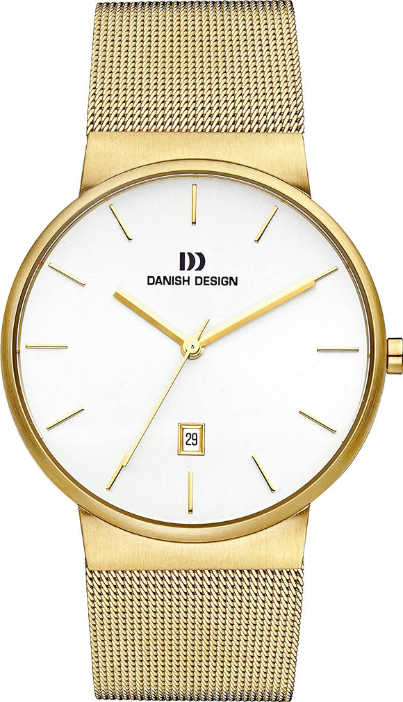 DANISH DESIGN MEN'S TÅGE WATCH WITH GOLD TONE STAINLESS STEEL BRACELET