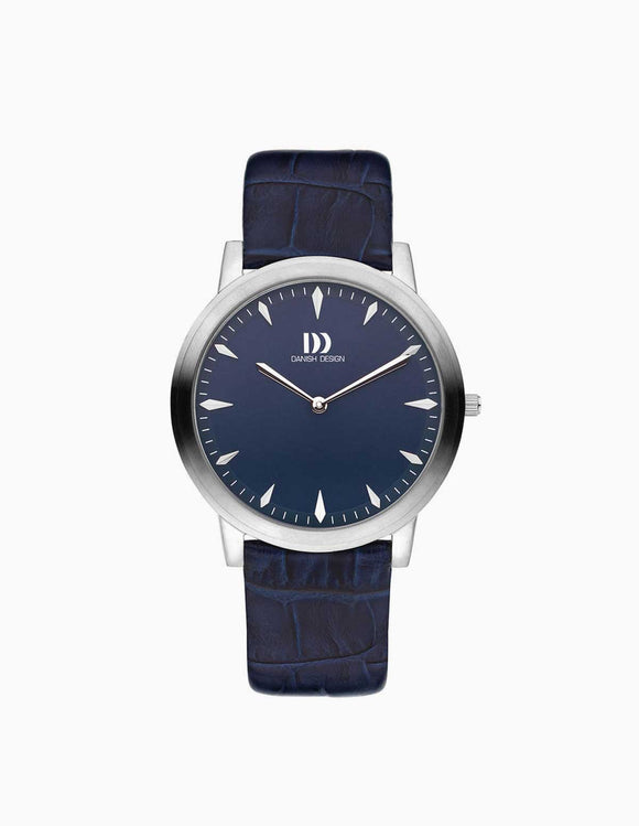 DANISH DESIGN MEN'S NAVY BLUE WATCH AND LEATHER STRAP
