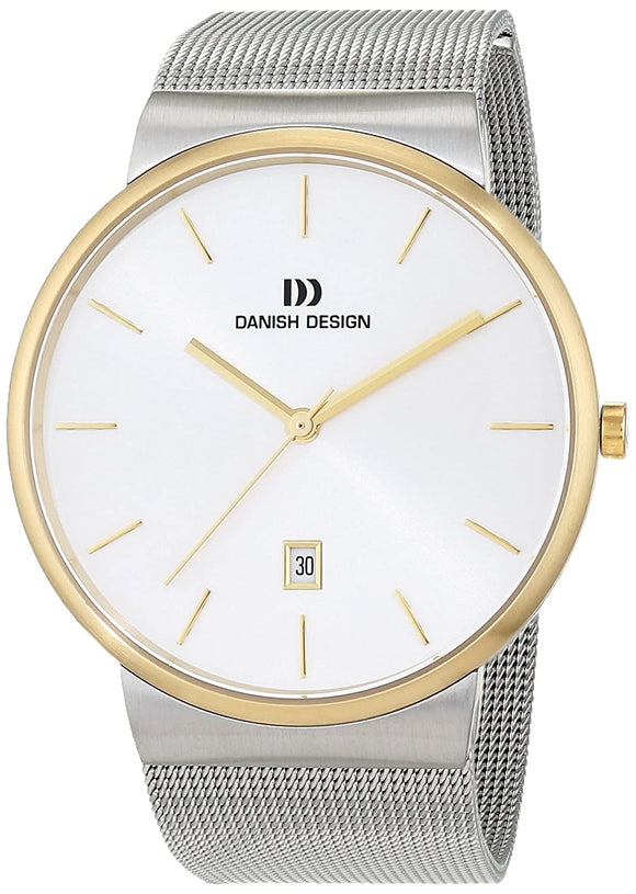 DANISH DESIGN MEN'S TAGE TWO TONE WATCH WITH STAINLESS STEEL MESH BRACELET