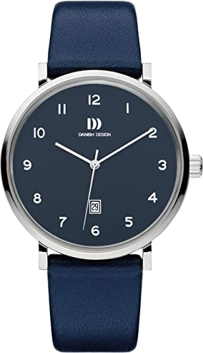 DANISH DESIGN MEN'S YUKON WATCH WITH BLUE LEATHER STRAP