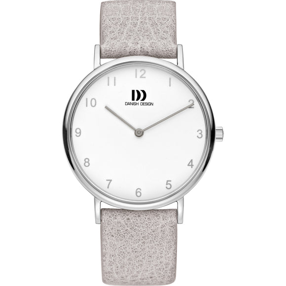 DANISH DESIGN MEN'S SYDNEY WATCH WITH GREY LEATHER STRAP