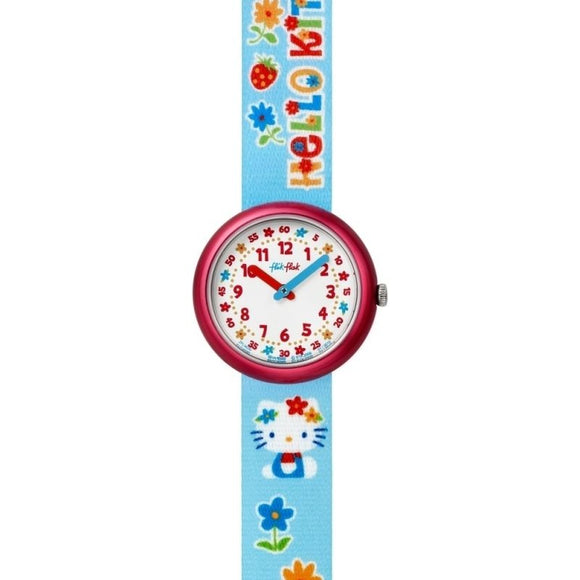 CHILDREN'S FLIK FLAK HELLO KITTY FLOWERS WATCH
