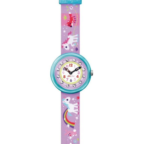 CHILDREN'S FLIK FLAK MAGICAL UNICORNS WATCH