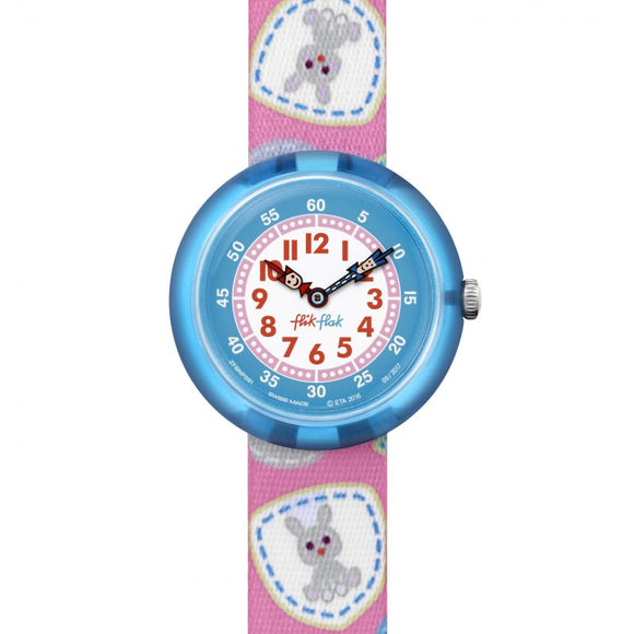 CHILDREN'S FLIK FLAK CAMPING BADGE PINK WATCH