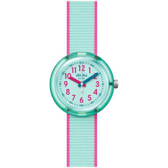 CHILDREN'S FLIK FLAK COLOR BLAST TURQUOISE WATCH