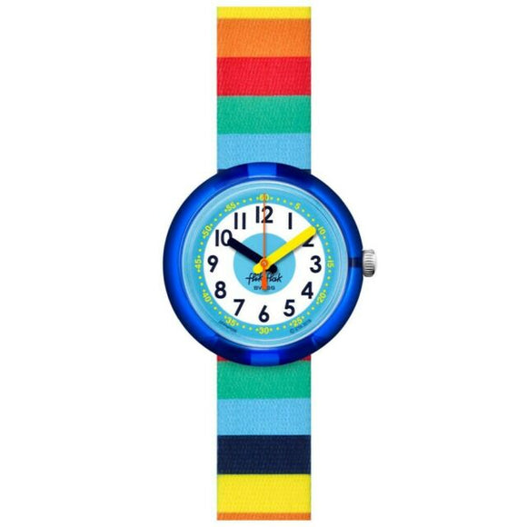 CHILDREN'S FLIK FLAK STRIPYBOW WATCH