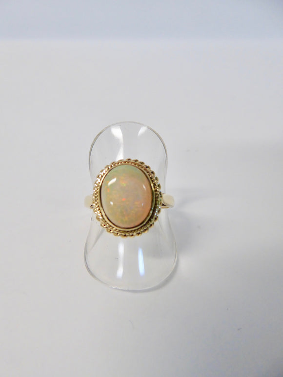 LUKE STOCKLEY 9CT GOLD OPAL RING