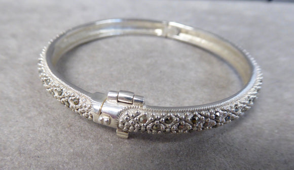 LUKE STOCKLEY SILVER MARCASITE BANGLE