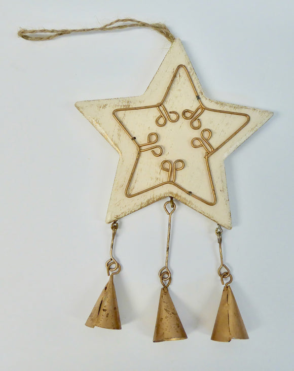 CHRISTMAS TREE DECORATIONS - WOODEN STAR / CHRISTMAS TREE