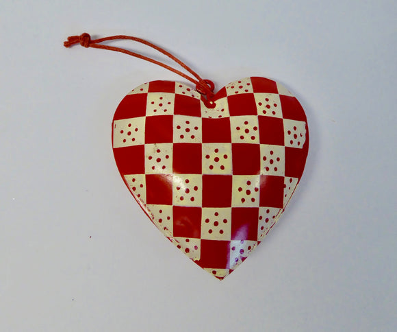 CHRISTMAS TREE DECORATIONS - HEARTS ASSORTED