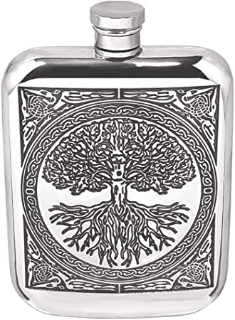 ENGLISH PEWTER 6OZ HIP FLASK
