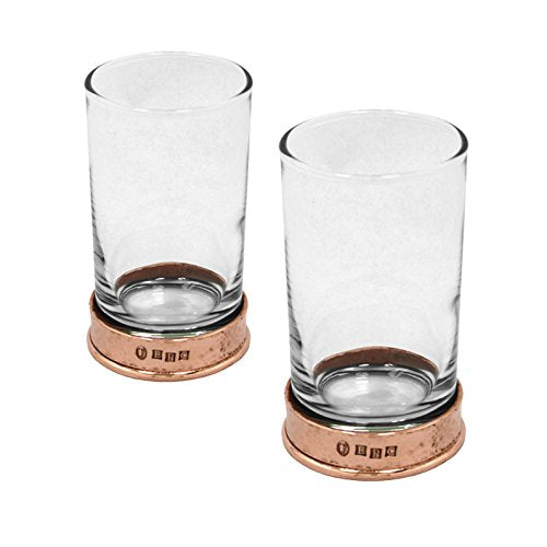 ENGLISH PEWTER 8.75OZ HIBALL GLASSES