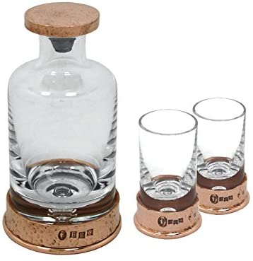 ENGLISH PEWTER MINI DECANTER & SHOT GLASS SET