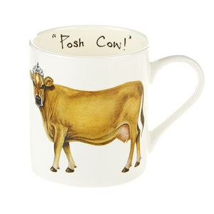 "CHINA MUG ""POSH COW""!"