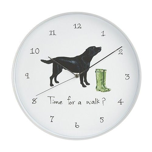TIME FOR A WALK ? WALL CLOCK